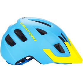 Cratoni Maxster Pro Helmet Kids blue-yellow matt